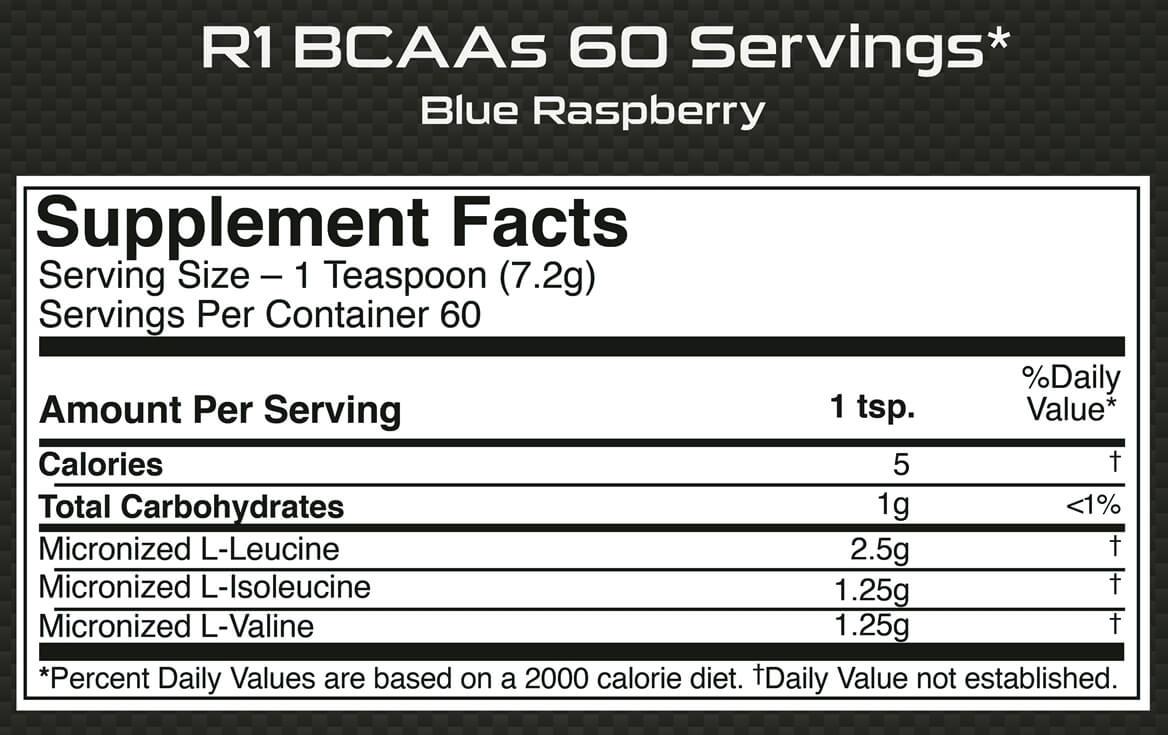 Rule One R1 BCAA, 0.95 lb 60 Servings Blue Raspberry online in India |  Healthkart.com